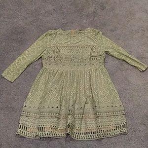 ASOS green lace dress